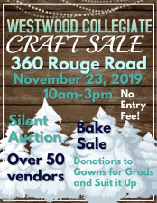 Westwood Craft Sale Nov 23-2019