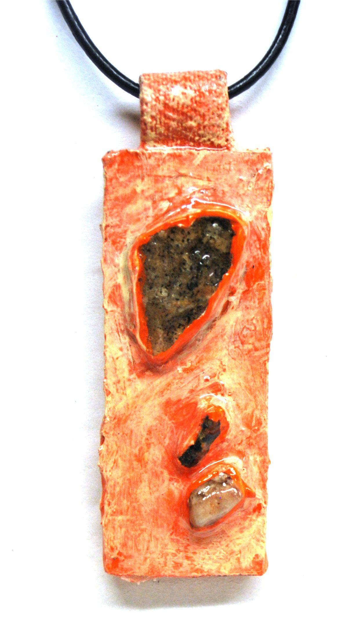 18-Tangerine Trio Pendant - Crop