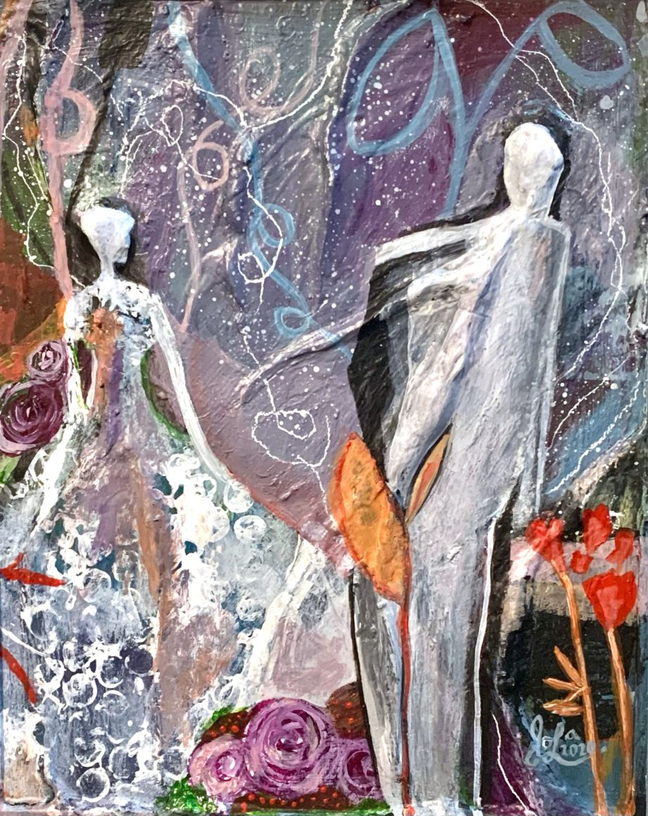 Everything In Between -Jola Liebzeit-8x10-mixedmedia on board-Life Finds Its Way