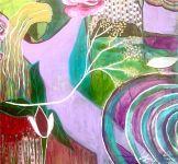 Ripple, Jola Liebzeit, Acrylic on Canvas, 36x36 - snippet